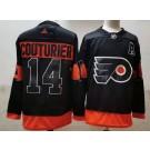 Men's Philadelphia Flyers #14 Sean Couturier Black Alternate Authentic Jersey