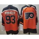 Men's Philadelphia Flyers #93 Jakub Voracek Orange 2021 Reverse Retro Authentic Jersey