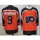 Men's Philadelphia Flyers #9 Ivan Provorov Orange 2021 Reverse Retro Authentic Jersey
