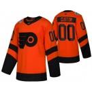 Men's Philadelphia Flyers Customized Orange 2019 Stadium Series Authentic Jersey