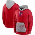 Men's Philadelphia Phillies Red Heritage Tri Blend Pullover Hoodie