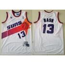 Men's Phoenix Suns #13 Steve Nash White Throwback Swingman Jersey