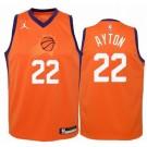 Men's Phoenix Suns #22 DeAndre Ayton Orange Statement Icon Hot Press Jersey