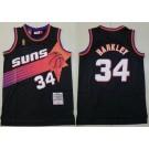 Men's Phoenix Suns #34 Charles Barkley Black 1992 Throwback Swingman Jersey