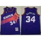 Men's Phoenix Suns #34 Charles Barkley Purple 1992 Throwback Swingman Jersey