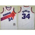 Men's Phoenix Suns #34 Charles Barkley White 1992 Throwback Swingman Jersey