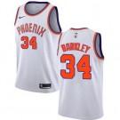 Men's Phoenix Suns #34 Charles Barkley White Classic Icon Hot Press Jersey
