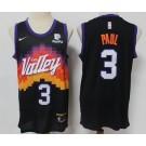 Men's Phoenix Suns #3 Chris Paul Black 2021 City Icon Sponsor Swingman Jersey
