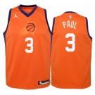 Men's Phoenix Suns #3 Chris Paul Orange Statement Icon Hot Press Jersey
