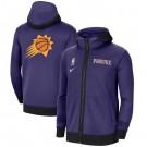 Men's Phoenix Suns Purple Showtime Performance Full Zip Hoodie Jacket