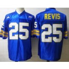 Men's Pittsburgh Panthers #25 Darrelle Revis Blue College Football Jersey