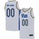 Men's Pittsburgh Panthers Customized White 2019 College Basketball Jersey