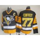 Men's Pittsburgh Penguins #77 Paul Coffey Black Throwback Jersey
