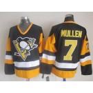 Men's Pittsburgh Penguins #7 Joe Mullen Black Throwback Jersey