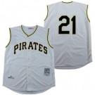 Men's Pittsburgh Pirates #21 Roberto Clemente Cream 1960 Throwback Jersey