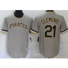 Men's Pittsburgh Pirates #21 Roberto Clemente Gray 2020 Cooperstown Collection Jersey