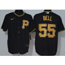 Men's Pittsburgh Pirates #55 Josh Bell Black 2020 Cool Base Jersey