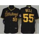 Men's Pittsburgh Pirates #55 Josh Bell Black Alternate 2020 FlexBase Jersey