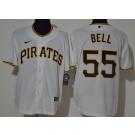 Men's Pittsburgh Pirates #55 Josh Bell White 2020 Cool Base Jersey
