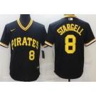 Men's Pittsburgh Pirates #8 Willie Stargell Black Throwback Cool Base Jersey