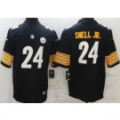 Men's Pittsburgh Steelers #24 Benny Snell Jr Limited Black Vapor Untouchable Jersey