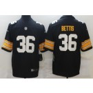 Men's Pittsburgh Steelers #36 Jerome Bettis Limited Black Alternate Vapor Untouchable Jersey