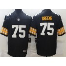 Men's Pittsburgh Steelers #75 Joe Greene Limited Black Alternate Vapor Untouchable Jersey