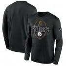Men's Pittsburgh Steelers Black Icon Legend Performance Long Sleeve T-Shirt