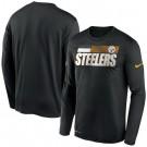 Men's Pittsburgh Steelers Black Sideline Impact Legend Performance Long Sleeves T Shirt 610