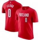 Men's Portland Trail Blazers #0 Damian Lillard Red Printed T Shirt 211059