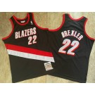 Men's Portland Trail Blazers #22 Clyde Drexler Black 1991 Hollywood Classic Authentic Jersey