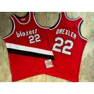 Men's Portland Trail Blazers #22 Clyde Drexler Red 1983 Hollywood Classic Authentic Jersey