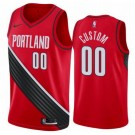 Men's Portland Trail Blazers Custom Red Statement Icon Hot Press Jersey
