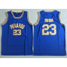 Men's Punahou High School #23 Barack Obama Blue College Basketball Jersey