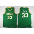 Men's Robert G Cole High School #33 Shaquille O'Neal Green College Basketball Jersey