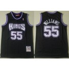 Men's Sacramento Kings #55 Jason Williams Black 1998 Hollywood Classic Swingman Jersey