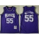 Men's Sacramento Kings #55 Jason Williams Purple 1998 Hollywood Classic Swingman Jersey