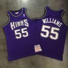Men's Sacramento Kings #55 Jason Williams Purple Throwback Authentic Jersey