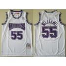 Men's Sacramento Kings #55 Jason Williams White 1998 Hollywood Classic Swingman Jersey