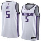Men's Sacramento Kings #5 De'Aaron Fox White Icon Hot Press Jersey