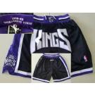 Men's Sacramento Kings Black Just Don 1998 Swingman Shorts