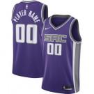 Men's Sacramento Kings Custom Purple Icon Hot Press Jersey