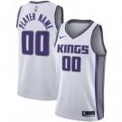 Men's Sacramento Kings Custom White Icon Hot Press Jersey