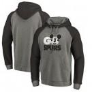 Men's San Antonio Spurs Gray 3 Printed Pullover Hoodie