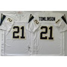 Men's San Diego Chargers #21 LaDainian Tomlinson White Throwback Jersey