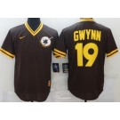 Men's San Diego Padres #19 Tony Gwynn Brown Collection Jersey