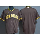 Men's San Diego Padres Blank Brown Cool Base Jersey