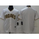 Men's San Diego Padres Blank White Team Patch Cool Base Jersey