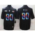 Men's San Francisco 49ers #80 Jerry Rice Limited Black Crucial Catch Vapor Untouchable Jersey