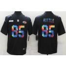 Men's San Francisco 49ers #85 George Kittle Limited Black Crucial Catch Vapor Untouchable Jersey